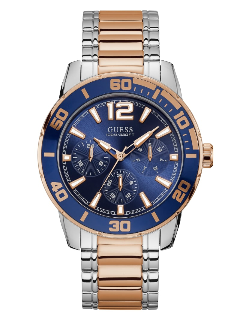 Rose Gold-Tone And Steel Multifunction Watch