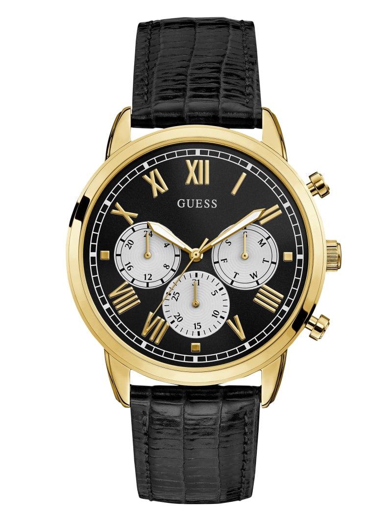 Black and Gold-Tone Chronograph Watch