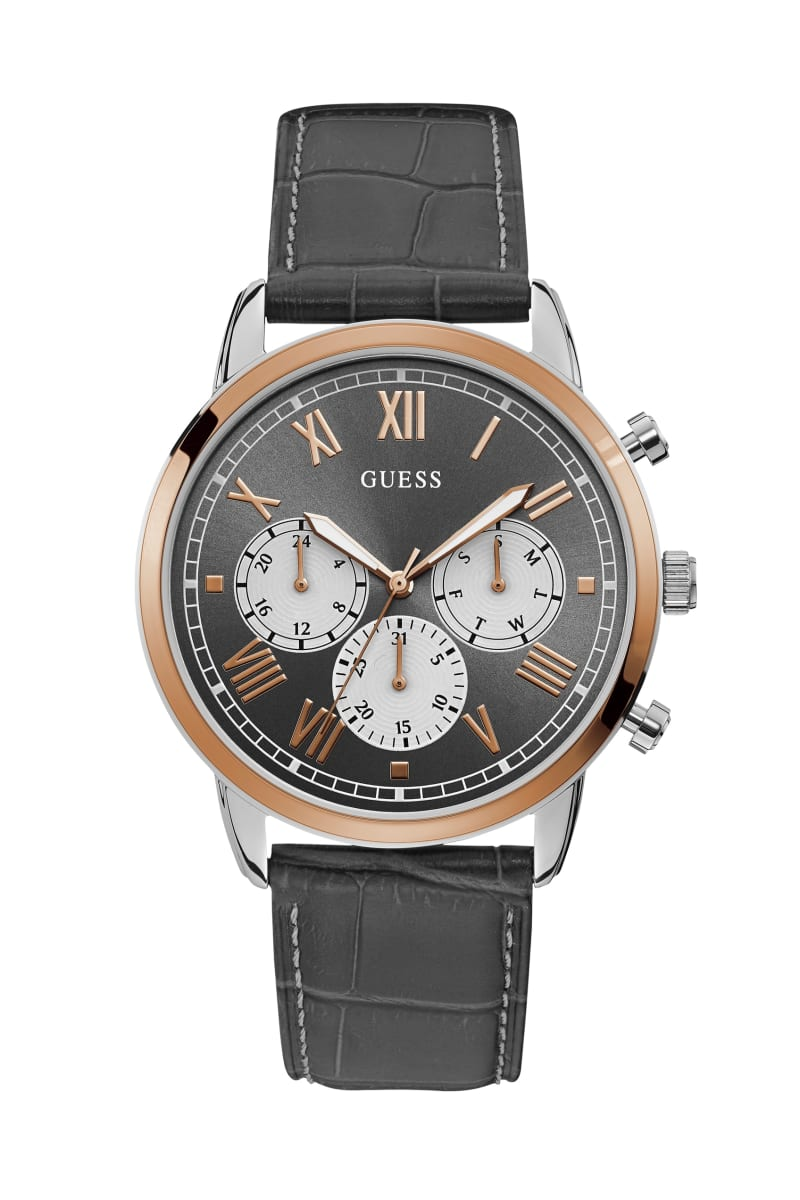 Steel And Rose Gold-Tone Chrono-Look Watch