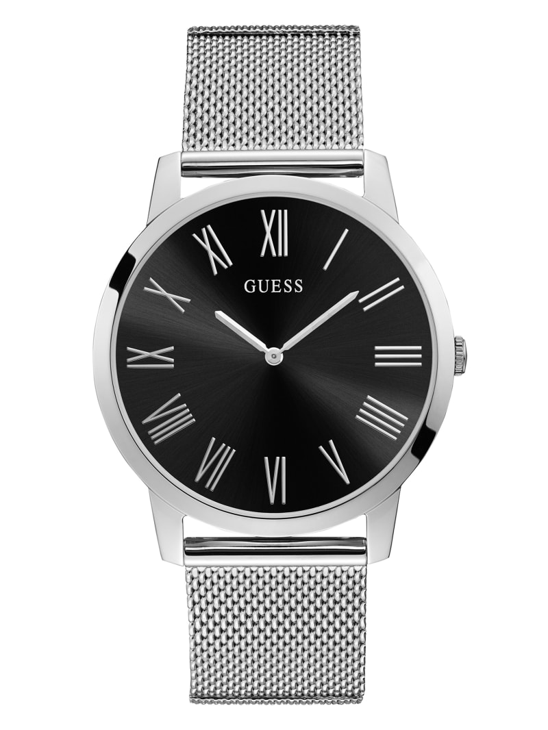 Silver-Tone and Black Analog Watch