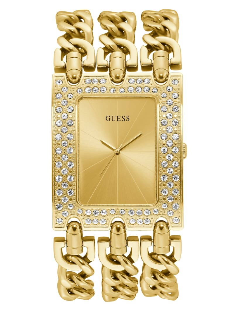 Gold-Tone Chain Analog Watch
