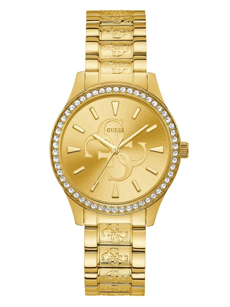 Gold-Tone Quattro G Analog Watch