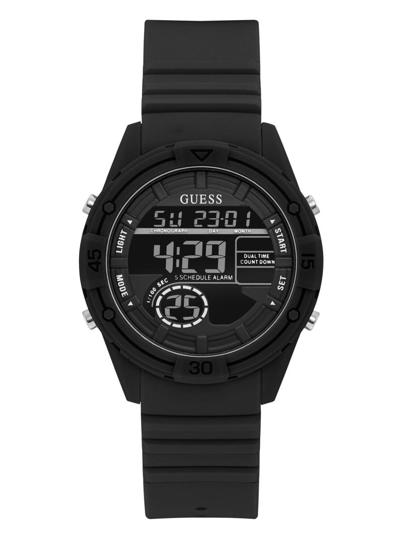 Black Silicone Digital Watch