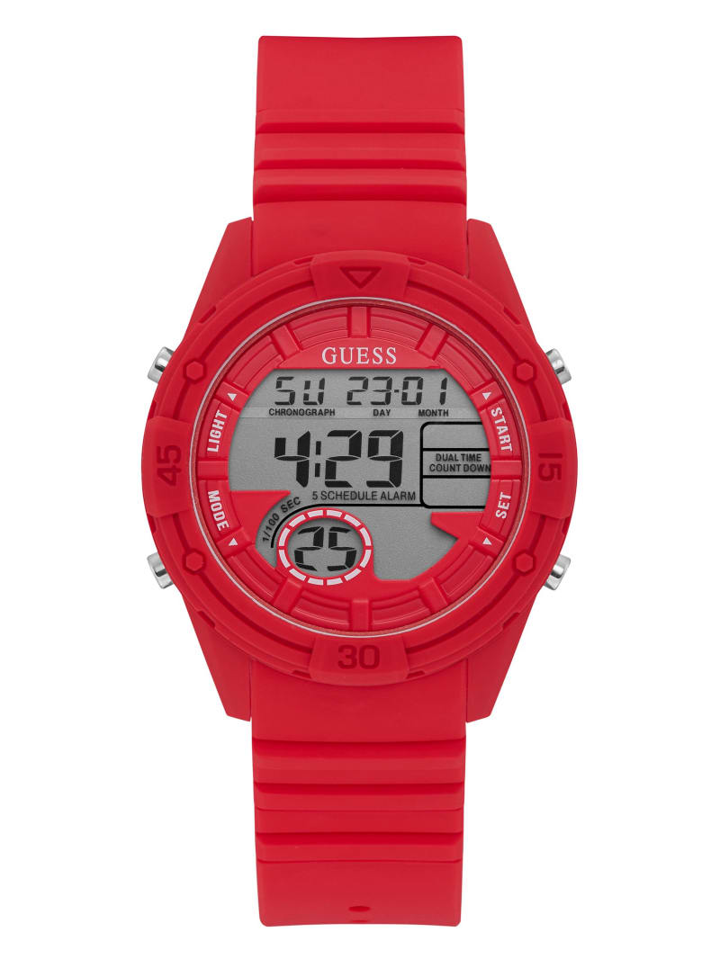 Red Silicone Digital Sport Watch