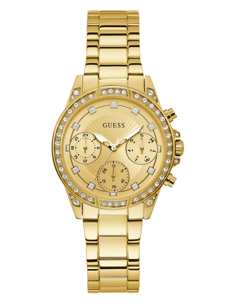 Gold-Tone Chrono-Look Watch