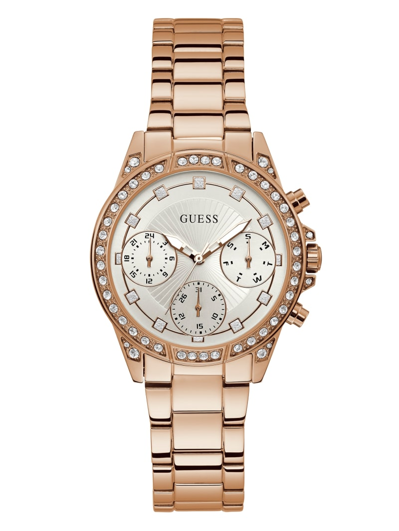 Rose Gold-Tone Chrono-Look Watch