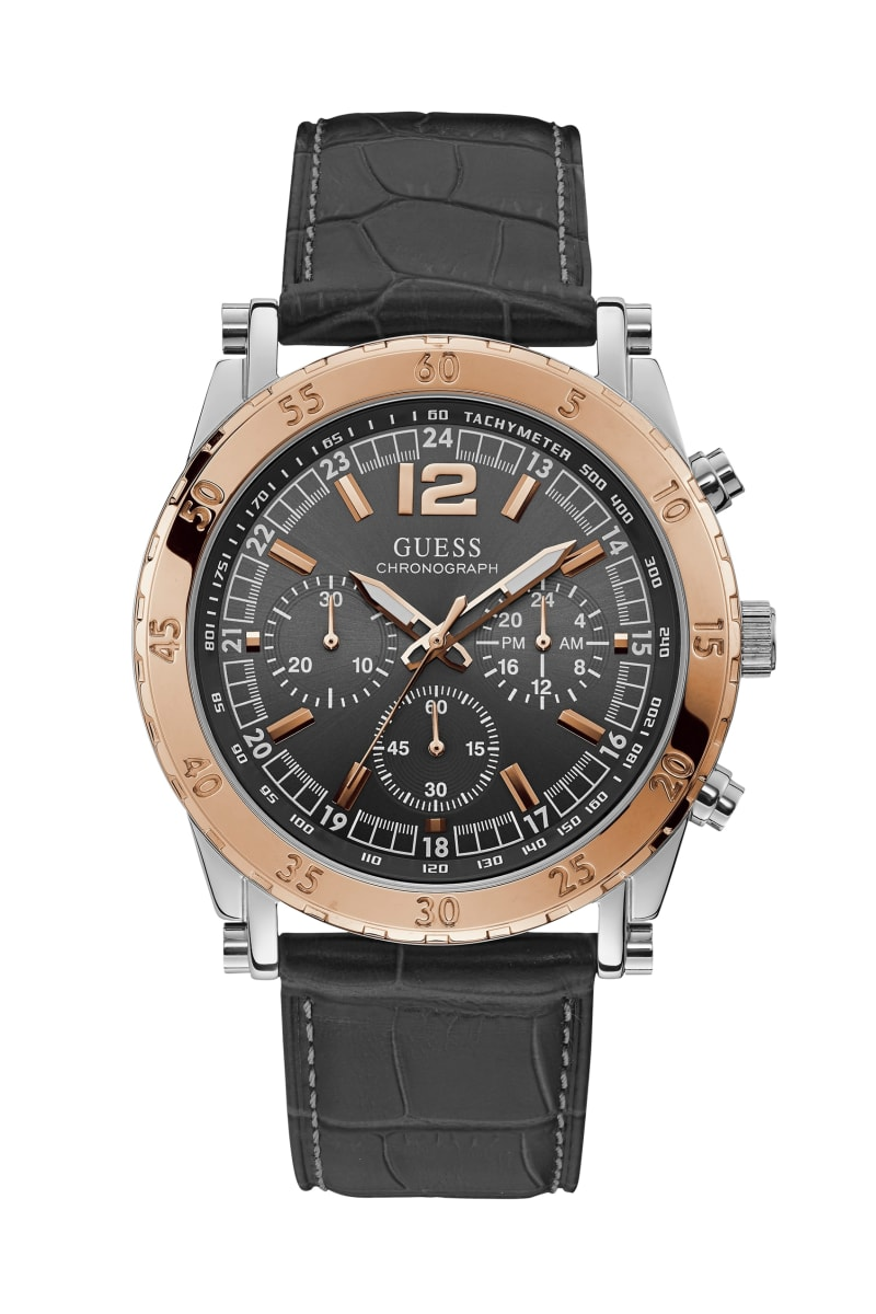 Rose Gold-Tone And Steel Chronographic Watch