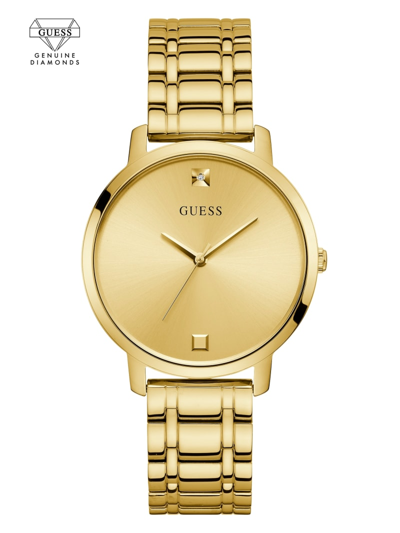 Gold-Tone Diamond Analog Watch