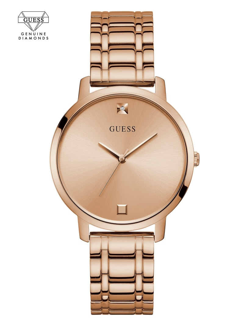 Rose Gold-Tone Diamond Analog Watch