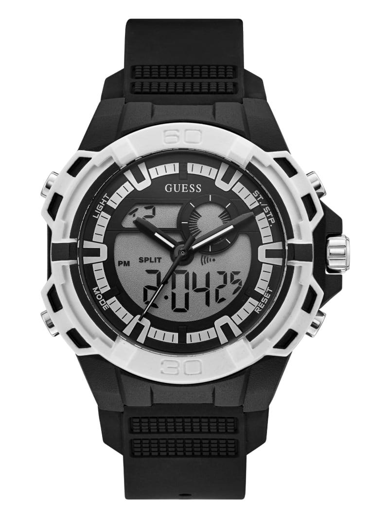Black and Silver-Tone Digital Watch