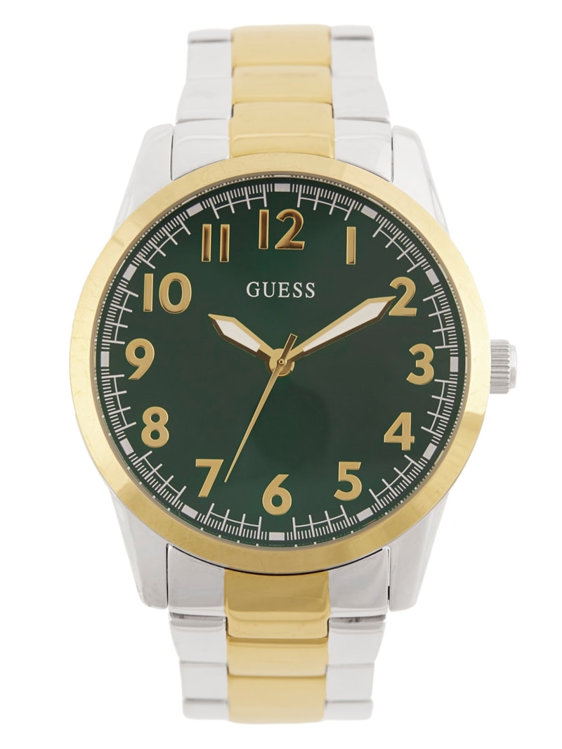 Multi-Tone and Green Analog Watch