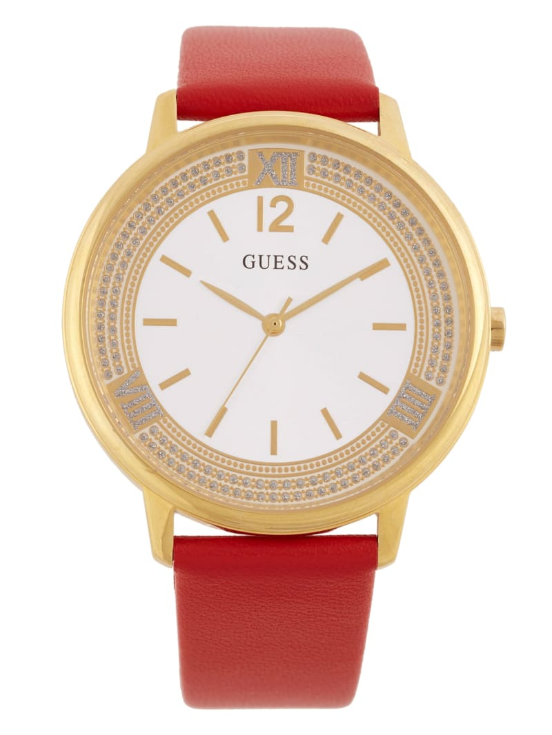 Red and Gold-Tone Analog Watch