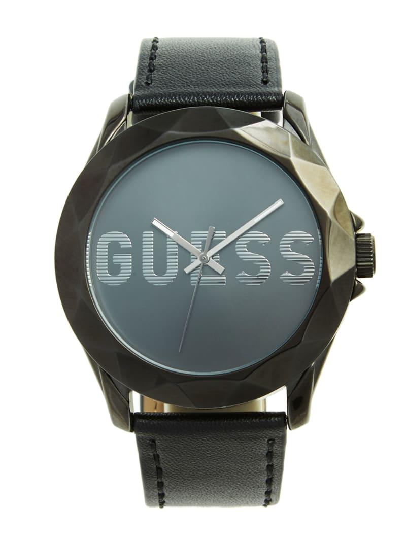 Gunmetal and Black Analog Watch