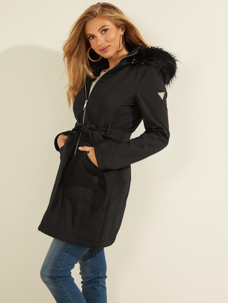 Sandra Faux-Fur Hooded Coat