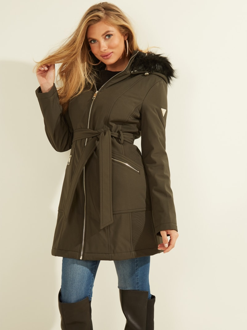 Sandra Faux-Fur Hooded Coat