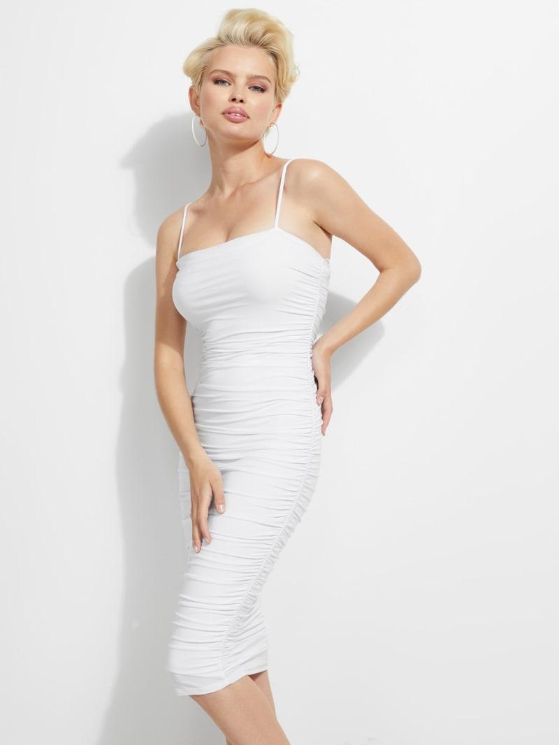 Grelys Shirred Midi Dress