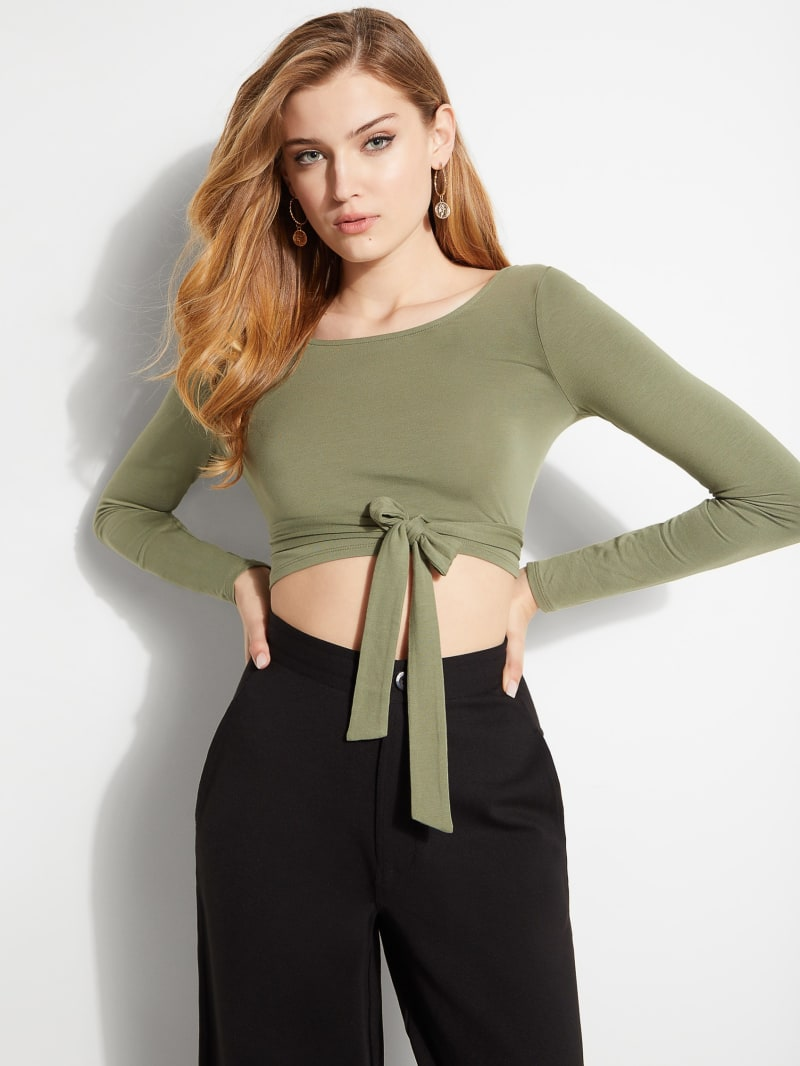 Eco Keeley Tie-Front Crop Top