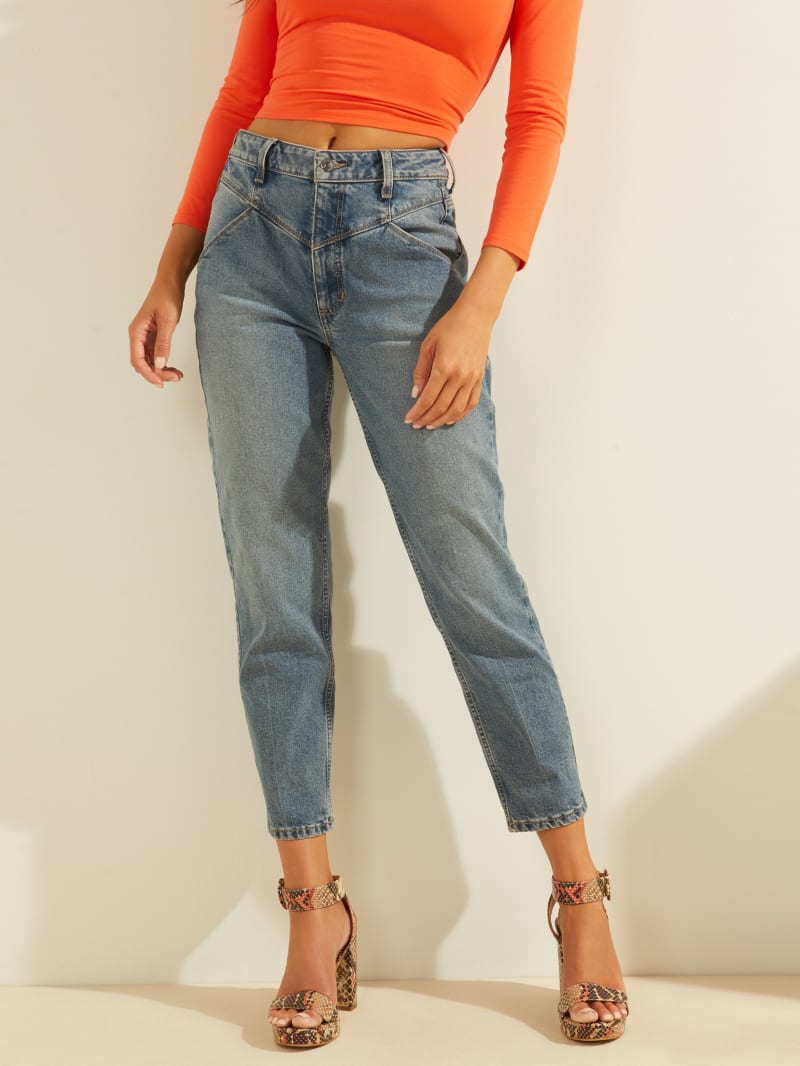 Super-High Rise '80s Mom Jeans