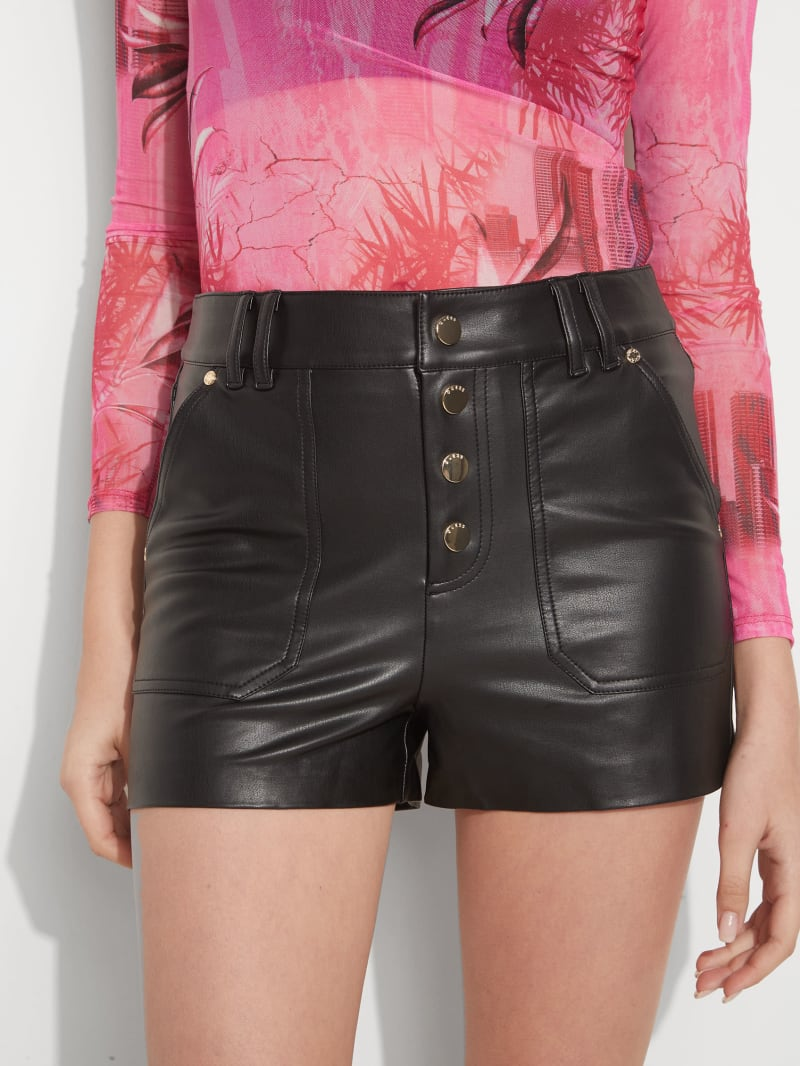 Minx Faux-Leather Hot Shorts