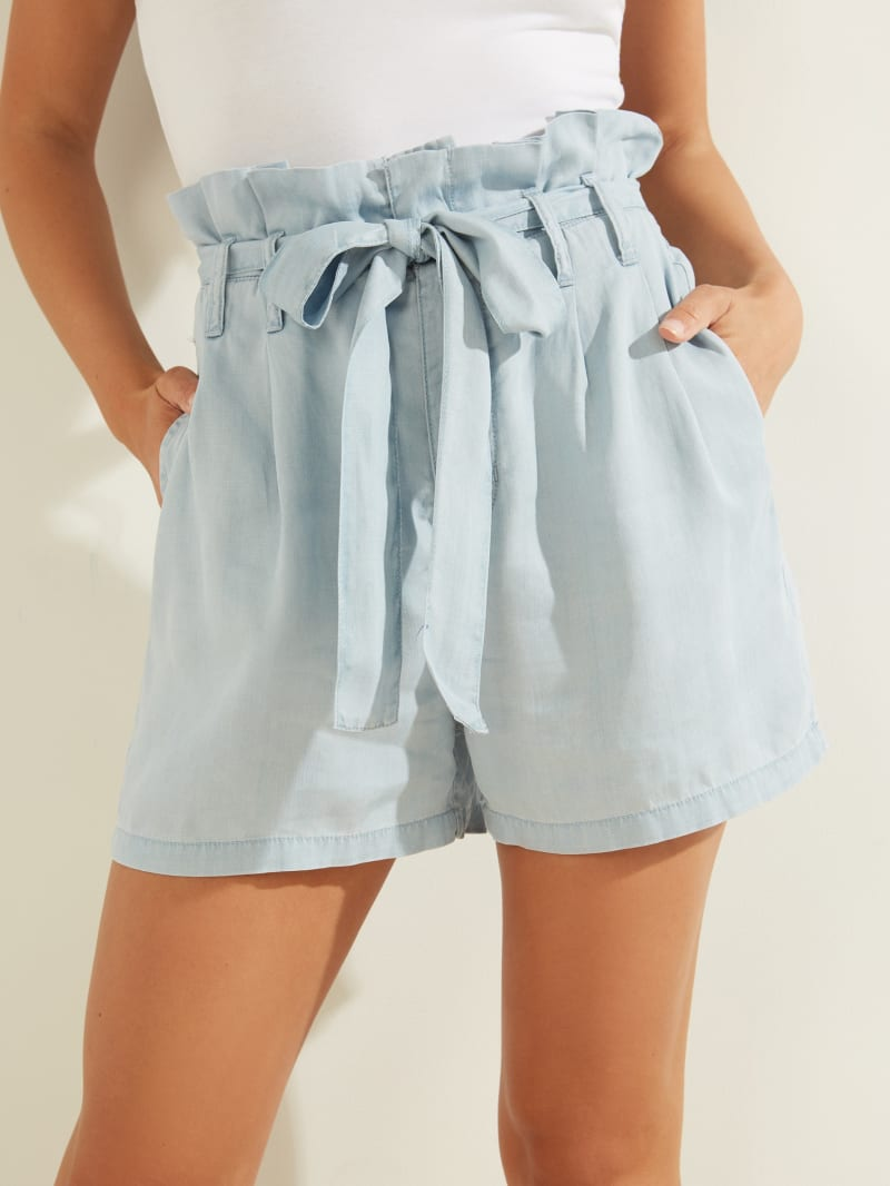 GUESS Eco Paperbag High-Rise Shorts