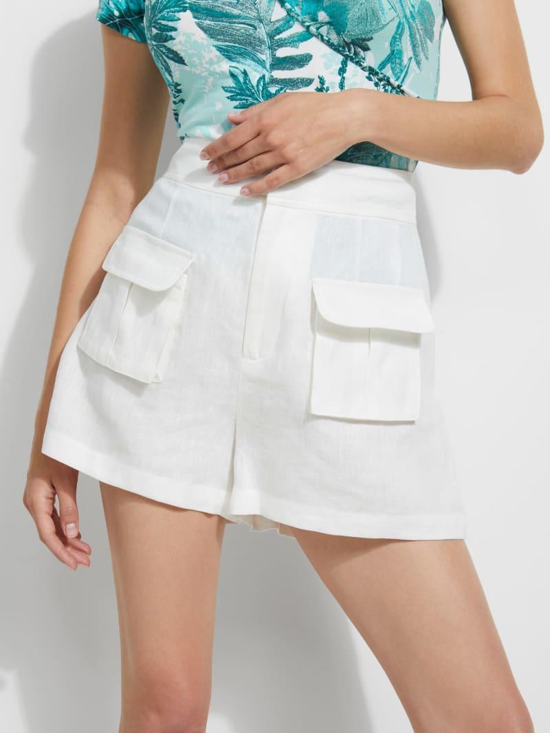 Lilla Printed Linen Shorts