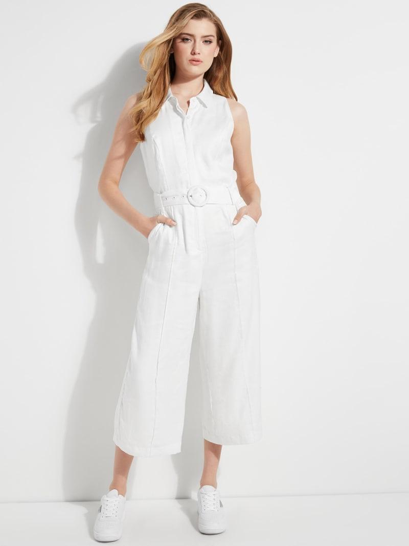 Ilaria Cropped Linen Jumpsuit