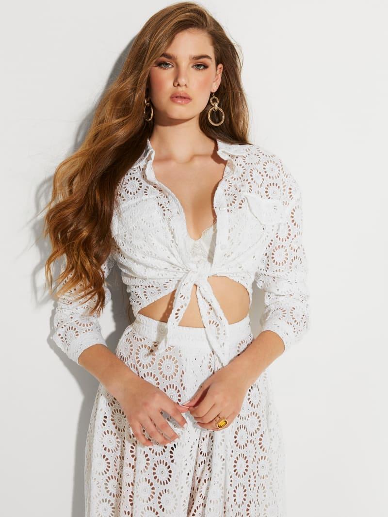 Marta Lace Tie-Front Shirt