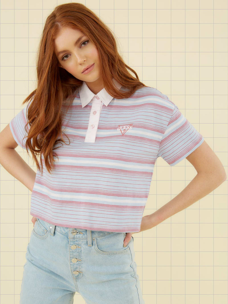 GUESS Originals Cropped Polo