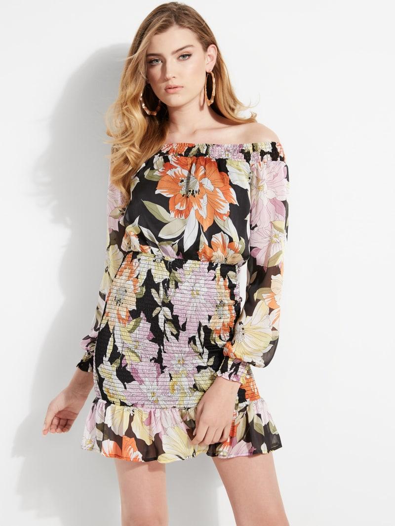Gabby Off-The-Shoulder Smocked Dress