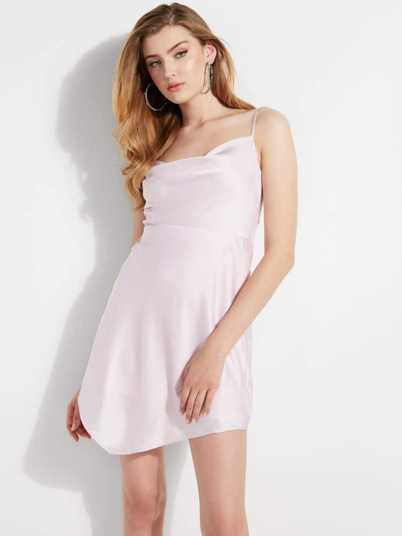 Eco Lucy Cowl-Neck Slip Dress