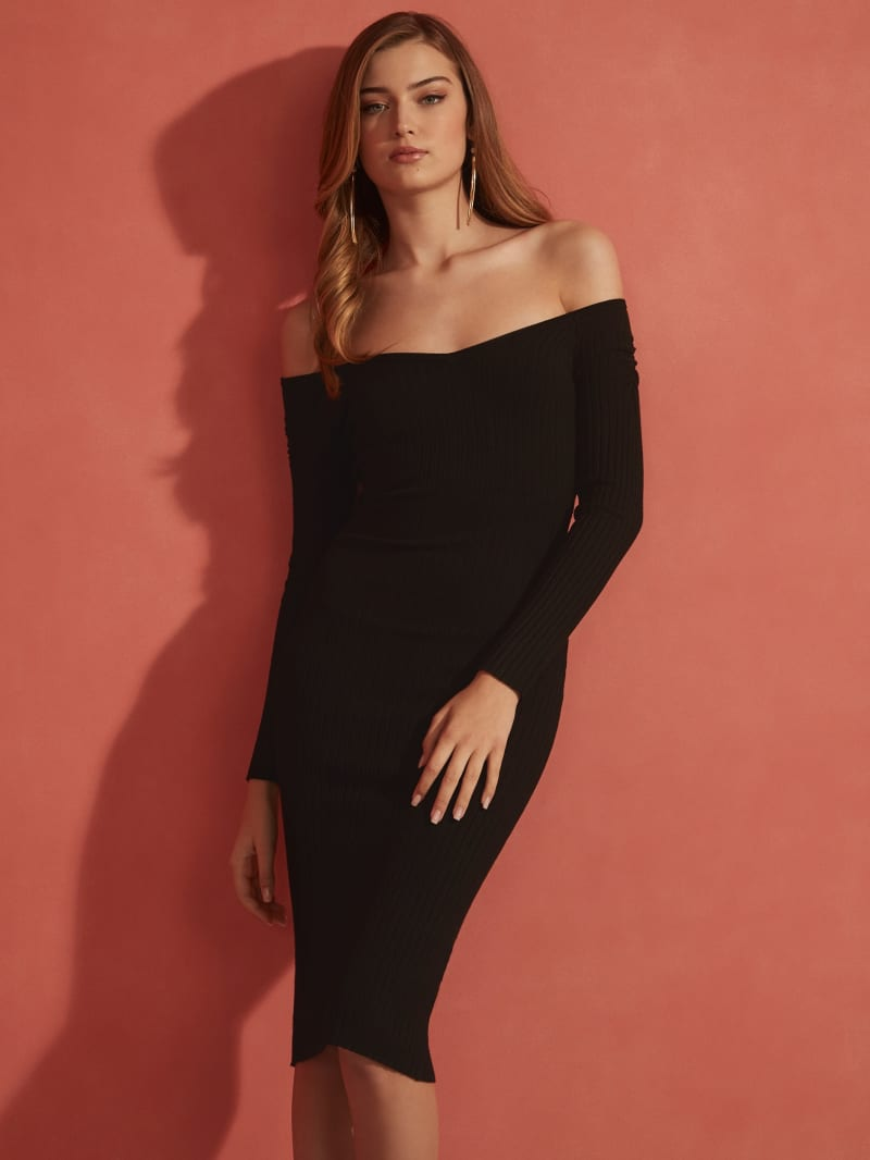 Aly-Off-The Shoulder Sweater Dress