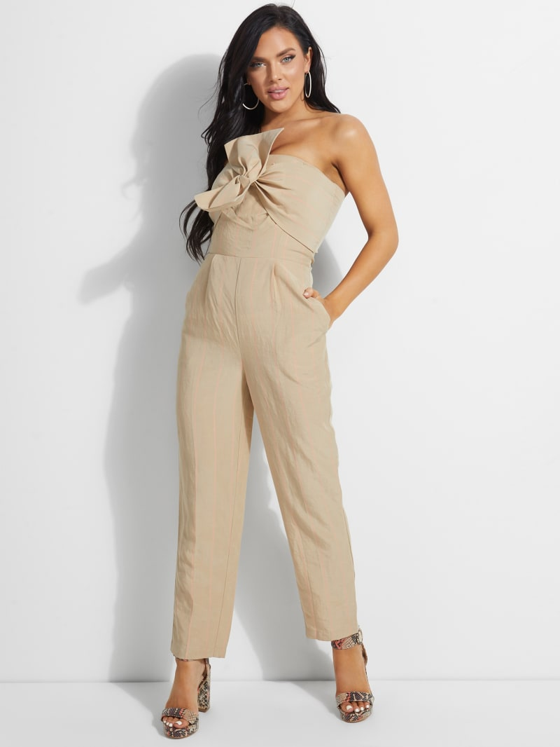 Evelina Strapless Bow Jumpsuit