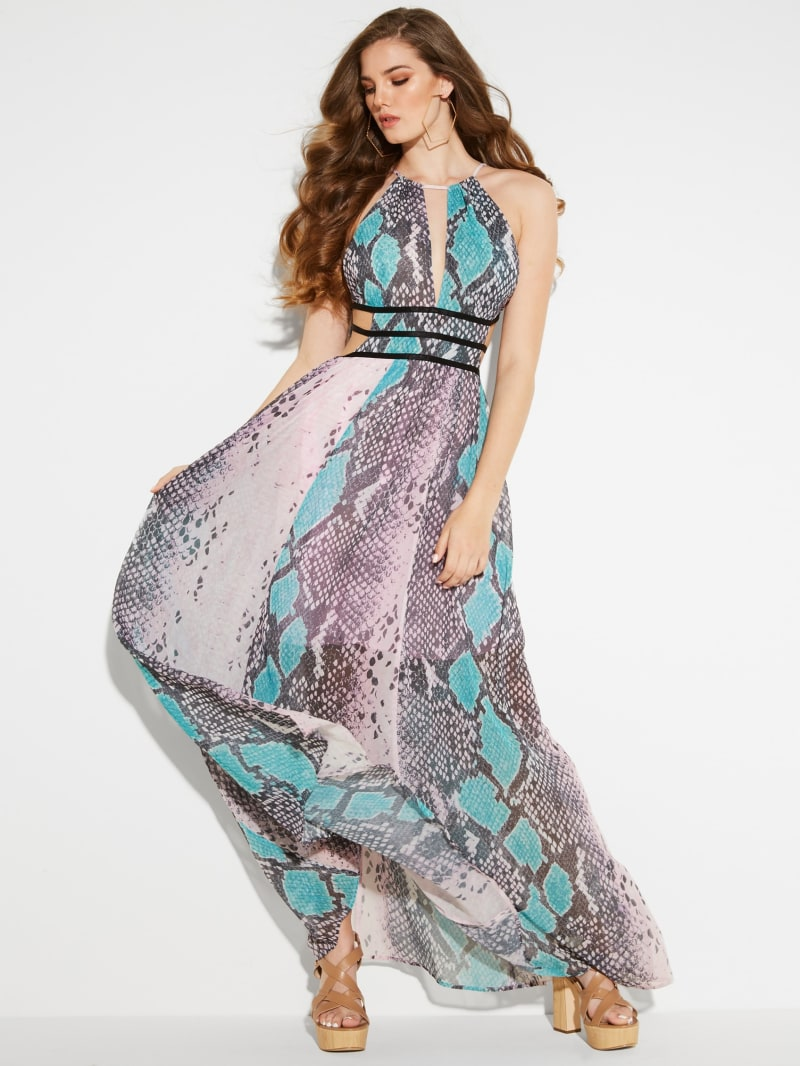 Vivienne Python Maxi Dress