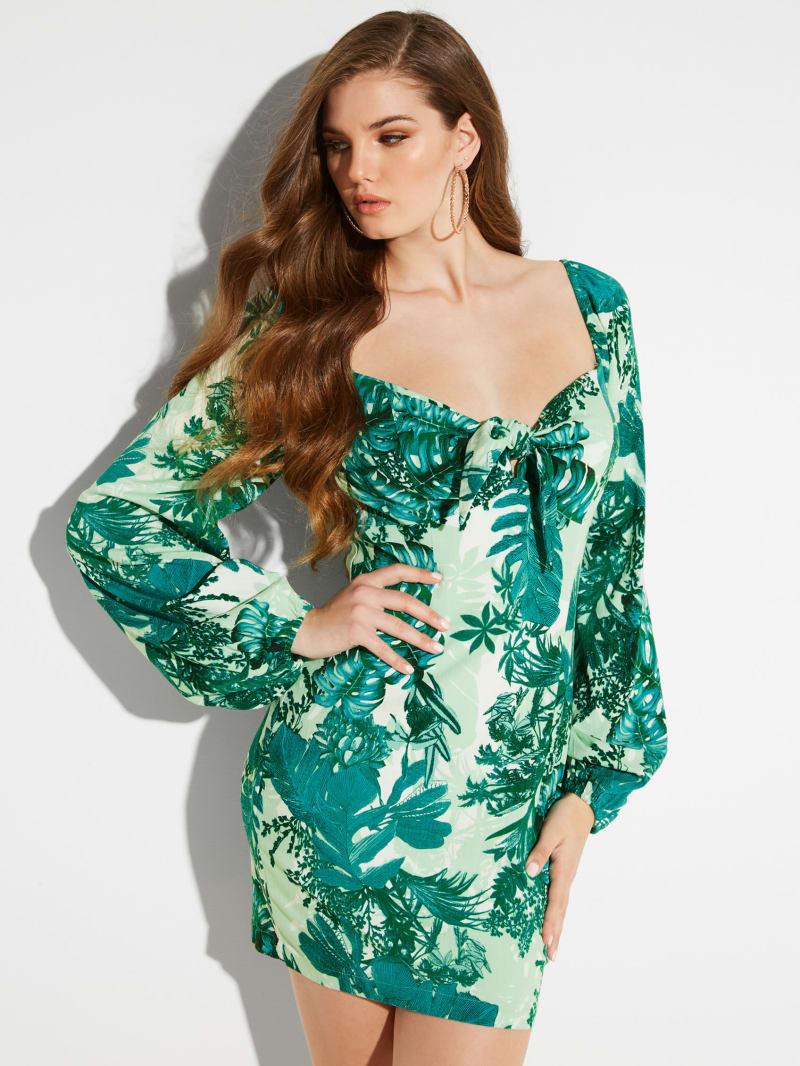 Junglescape Long-Sleeve Dress
