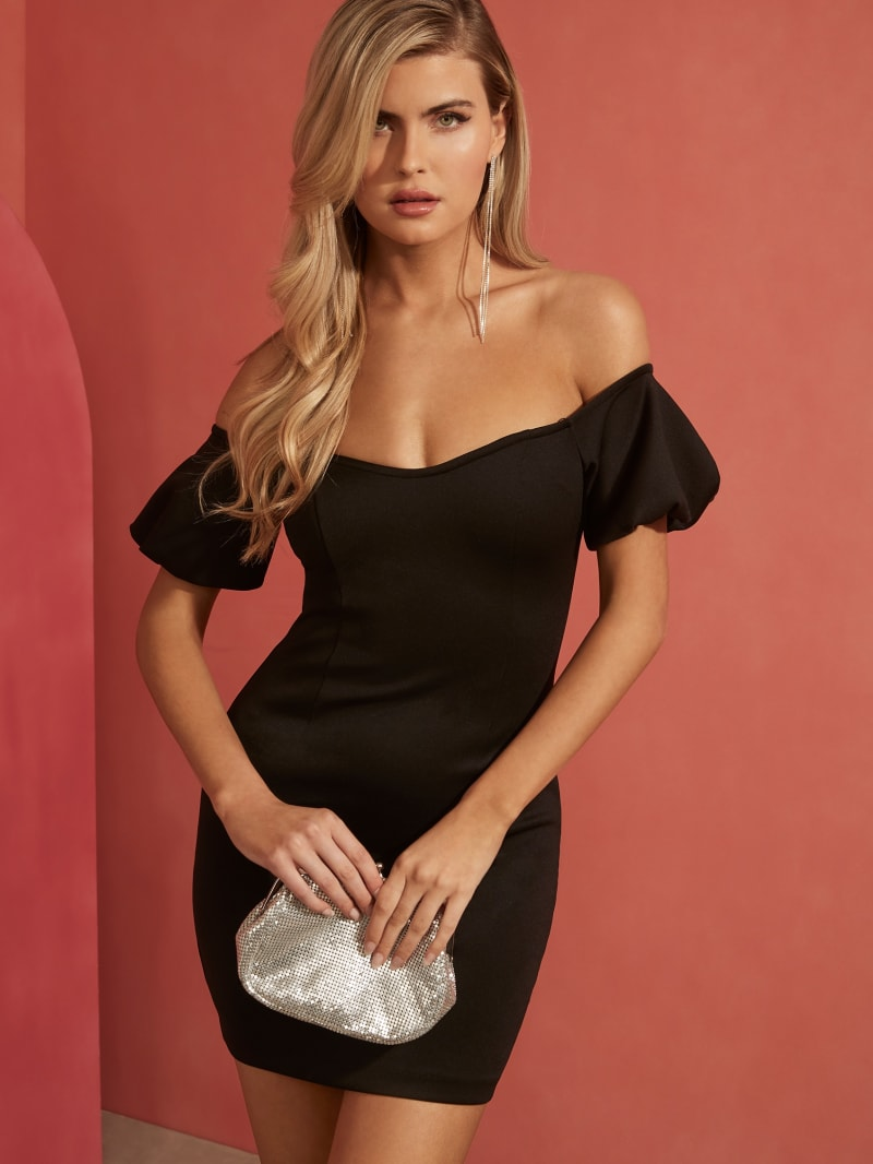 Eco Cindy Off-Shoulder Mini Dress