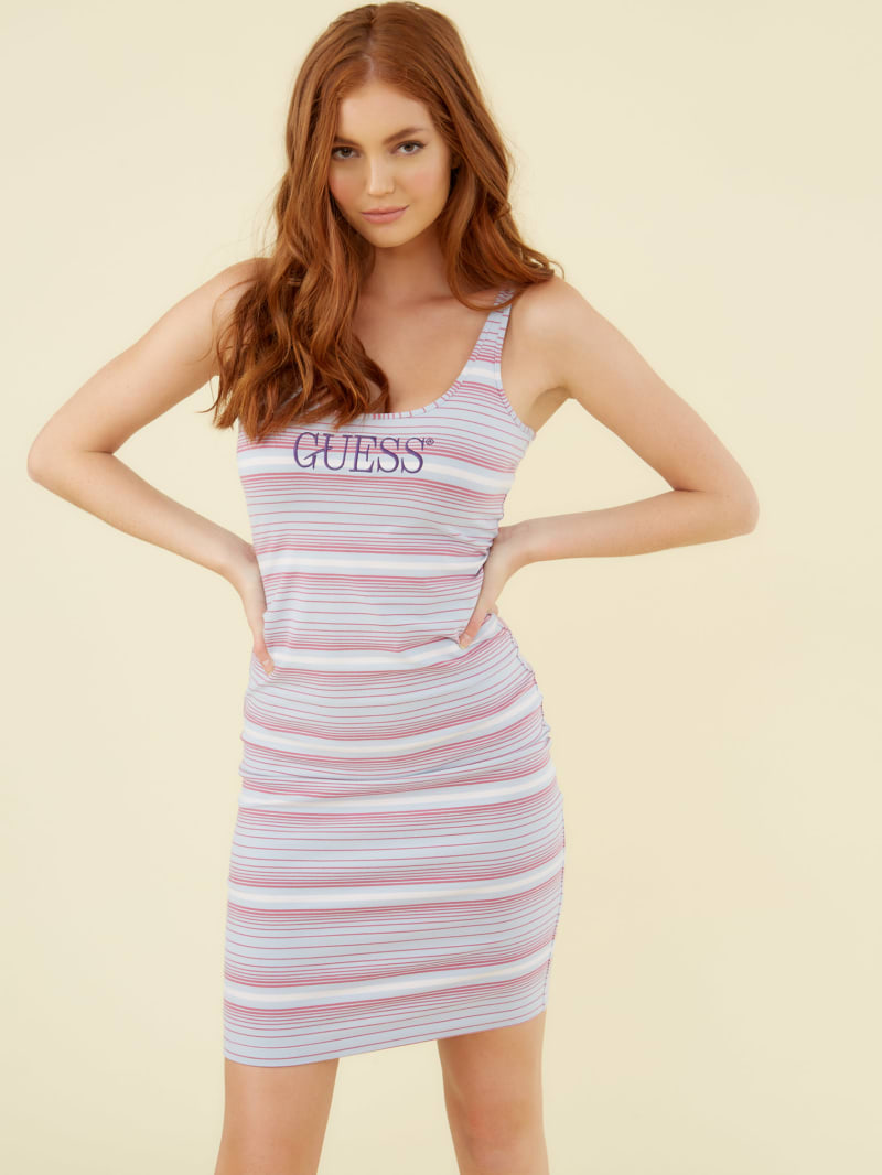 GUESS Originals Striped Logo Dress