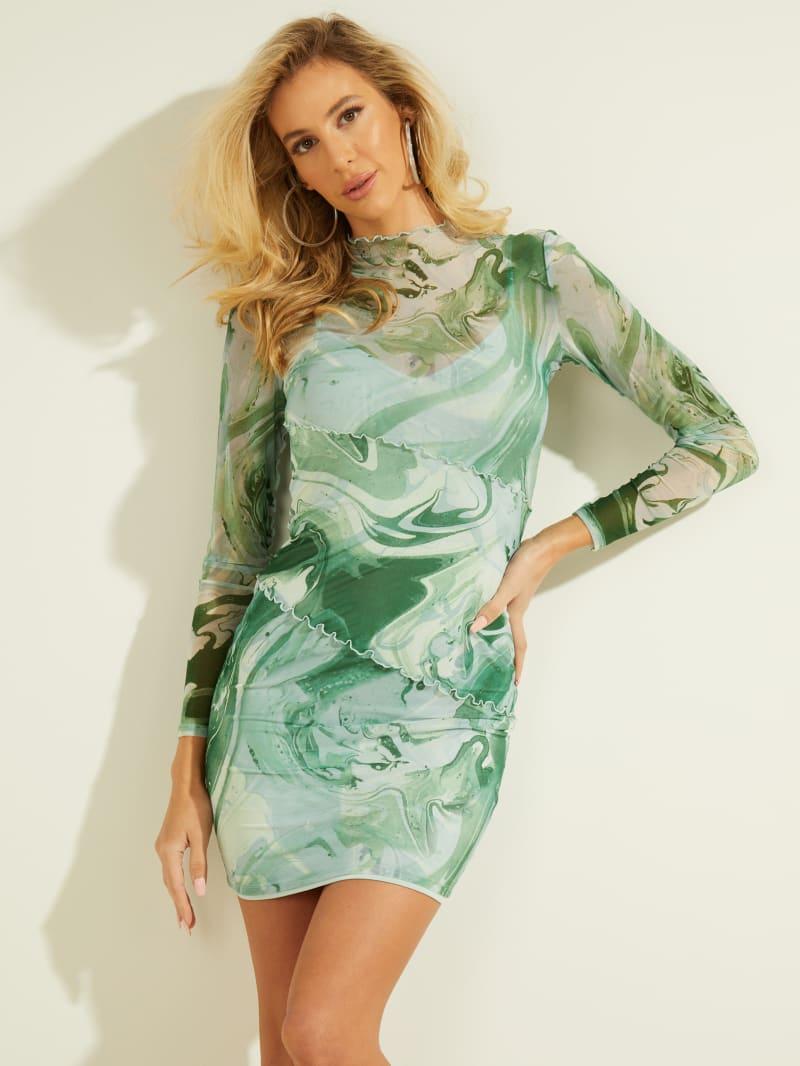 Nadine Mock-Neck Dress