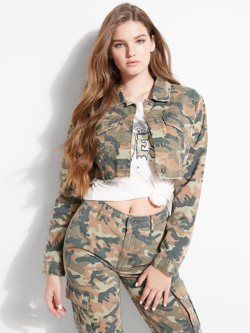 Talia Micro-Cropped Camo Jacket