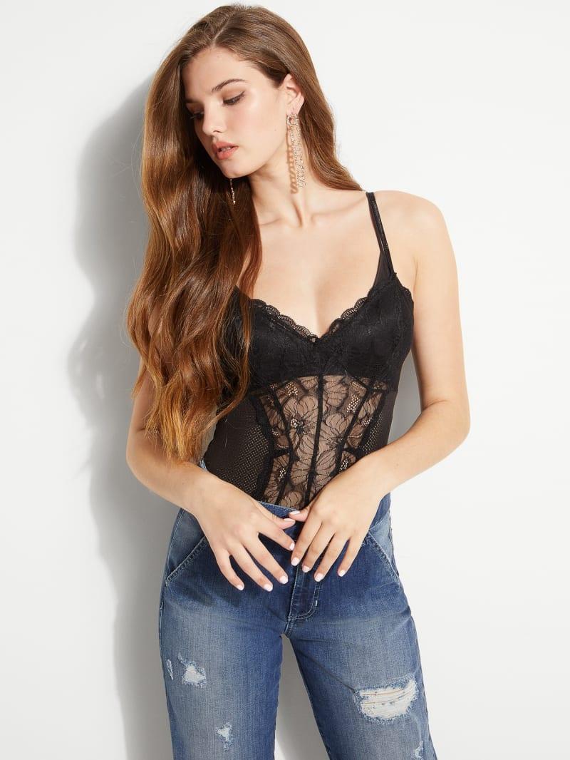 Riza Lace Mesh Bodysuit