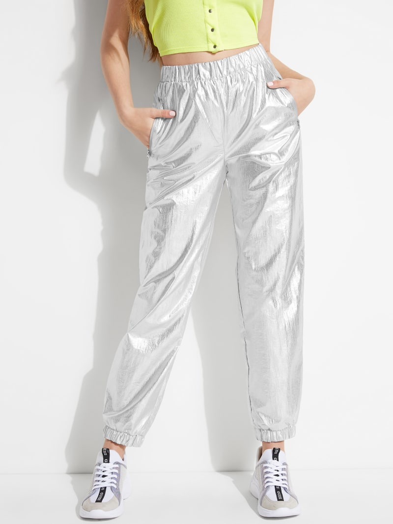 Metallic Super-High Rise Joggers