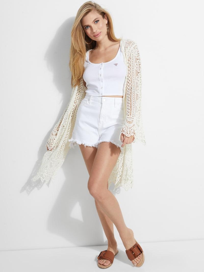 Lilja Crochet Tie-Front Sweater