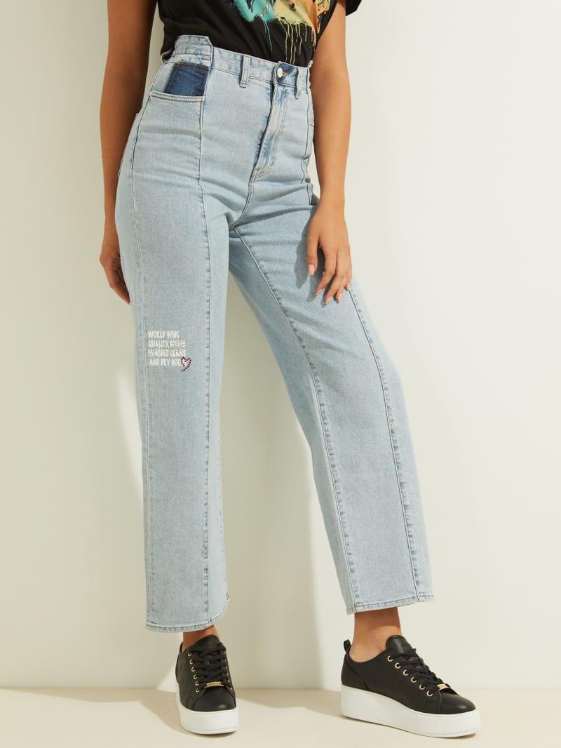 Embellished Straight Leg Jeans