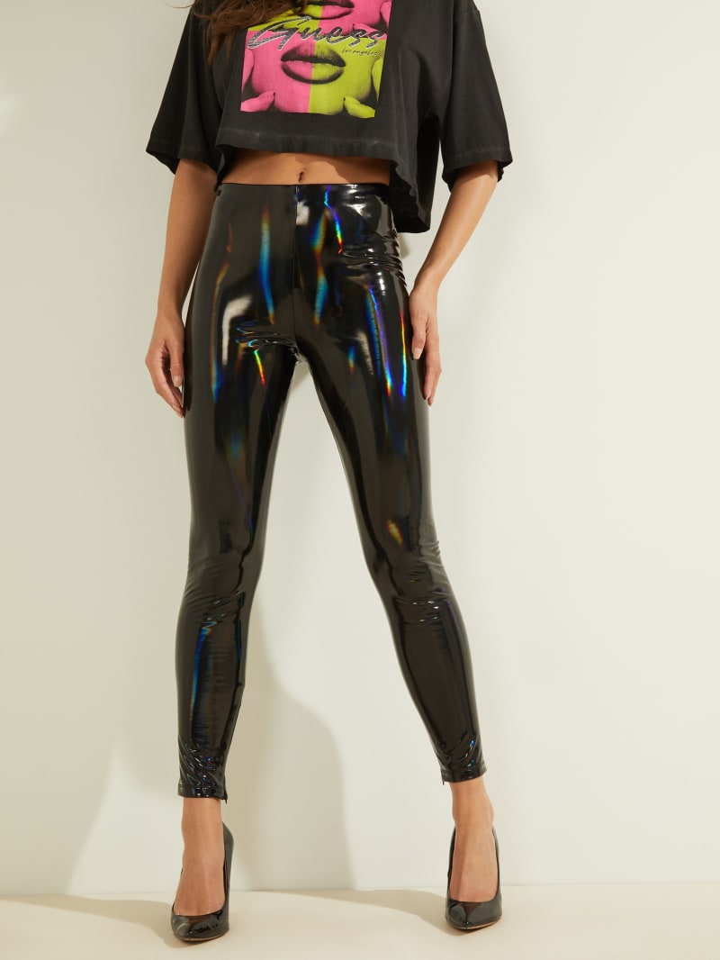 Ariane Patent Hologram Leggings