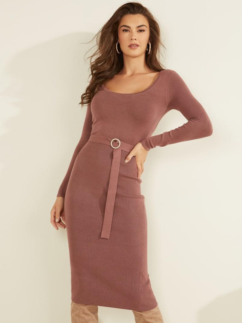 Kym Belted Knit Dress