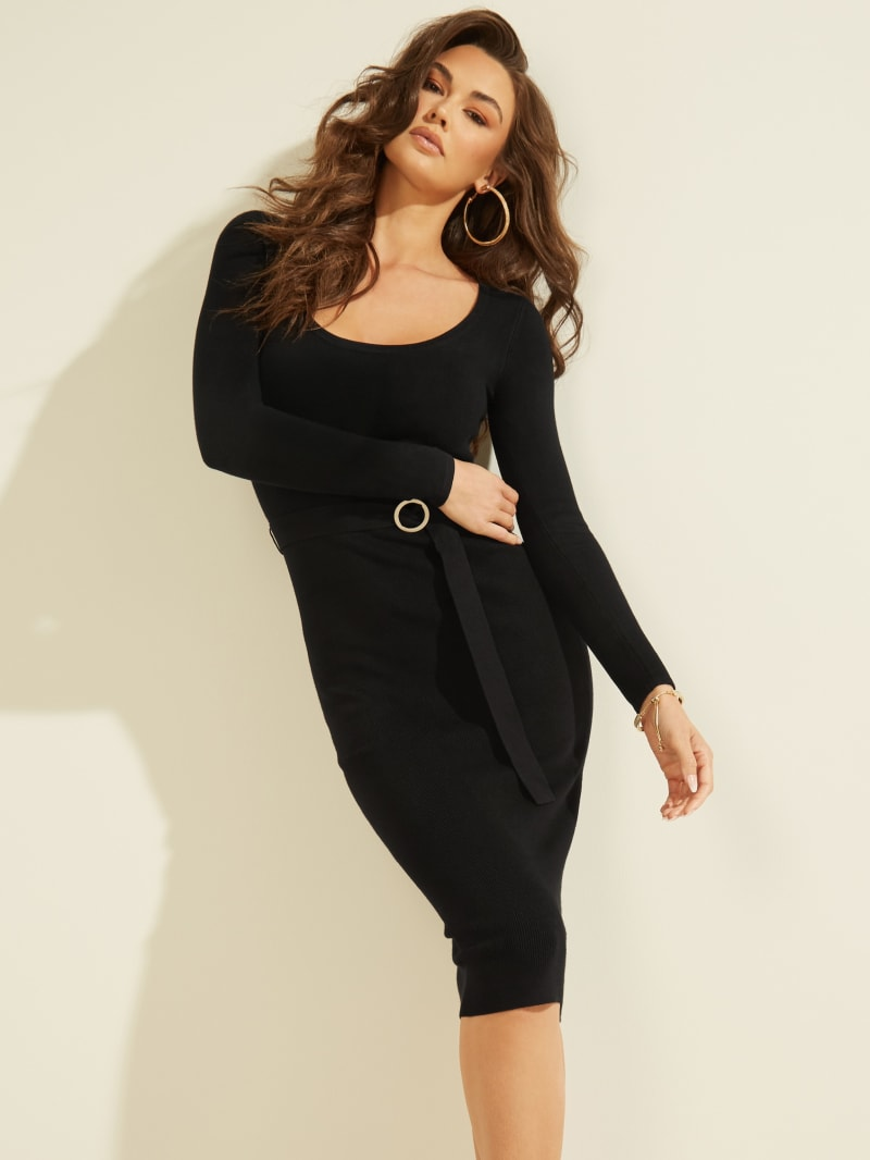 Kym Belted Knit Dress