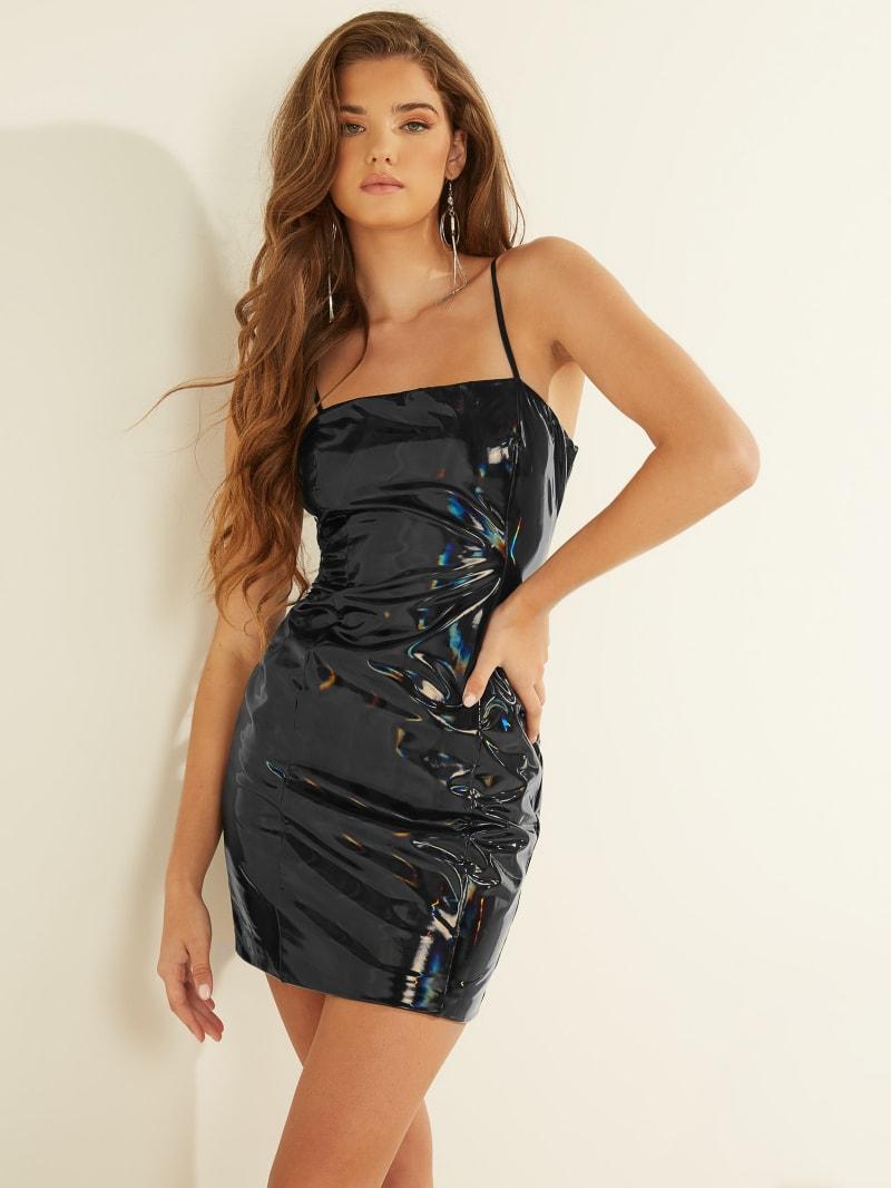 Ariane Patent Hologram Dress