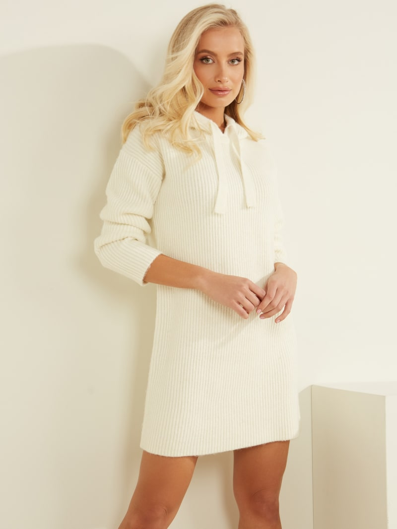 Kira Ribbed Sweater Dress
