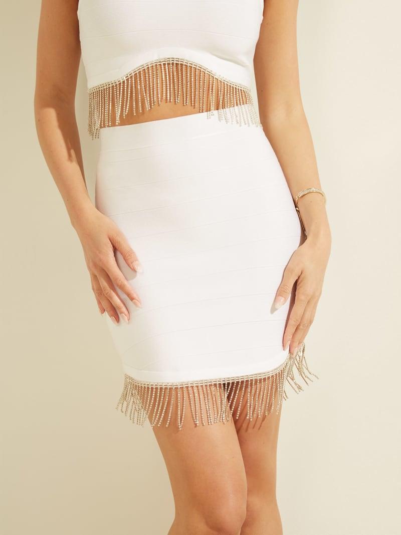 Rhinestone Fringe Mirage Skirt