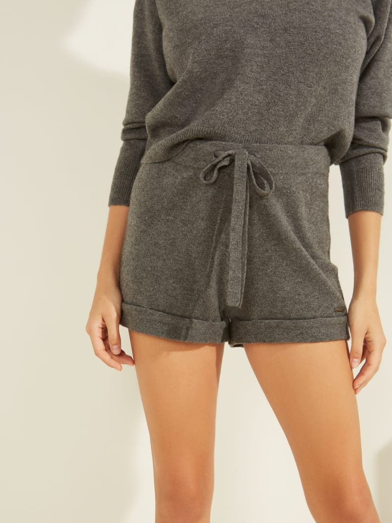 Kaia Rolled Hem Sweater Shorts