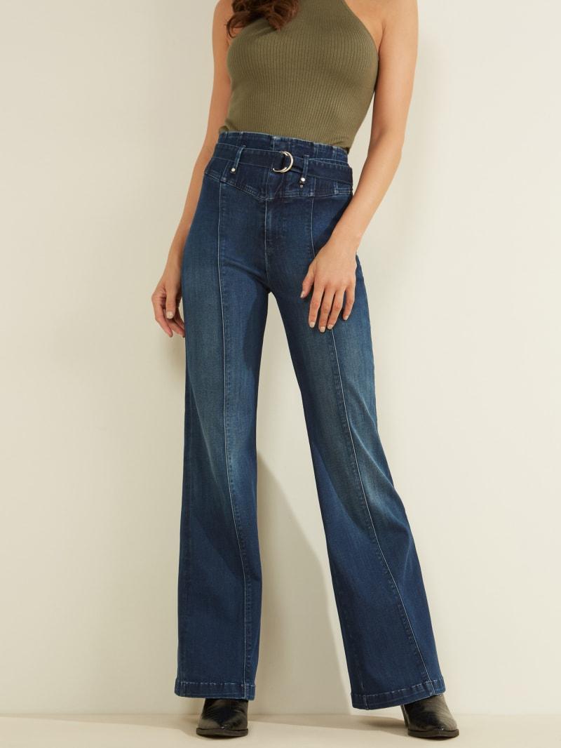 Marylou Super-High Rise Corset Wide Leg Jeans